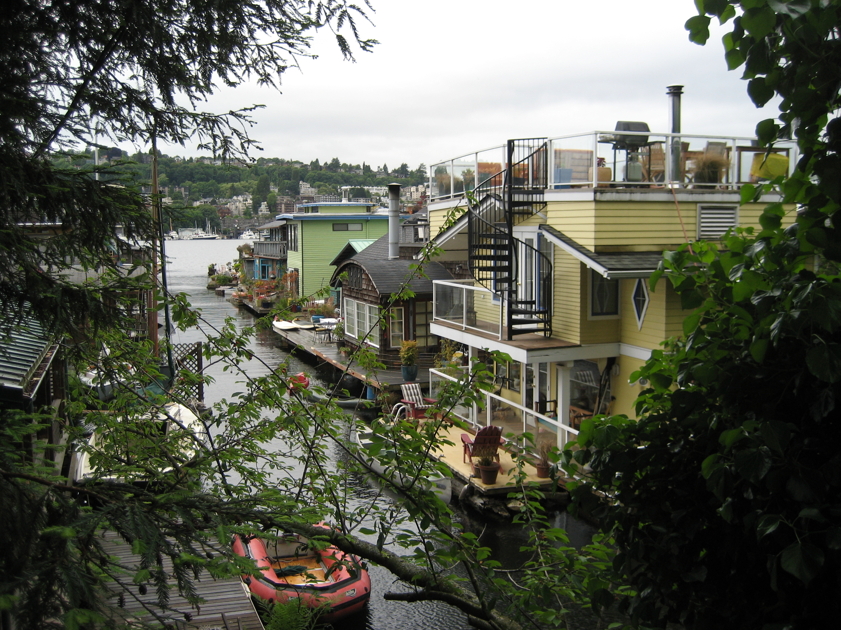 Houseboats In Seattle Lake Union Seattle My Steps Today